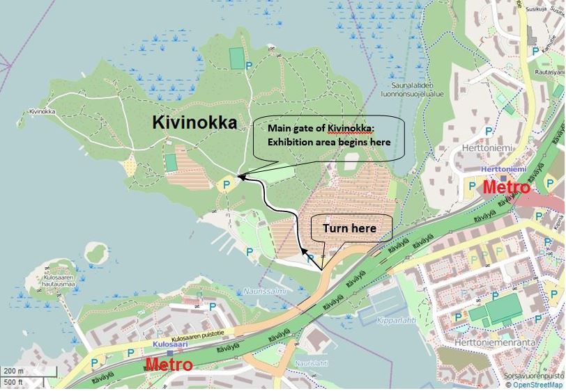 Kivinokka map zoomed out